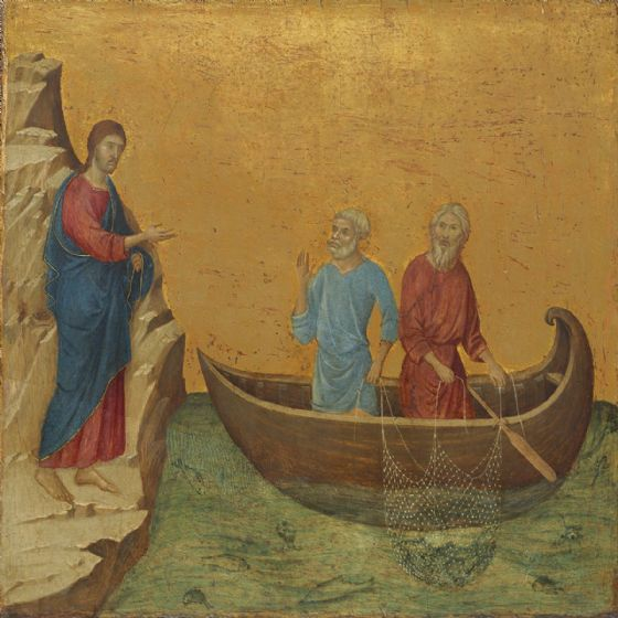 Buoninsegna, Duccio di: The Calling of the Apostles Peter and Andrew. Biblical Fine Art Print/Poster (004161)